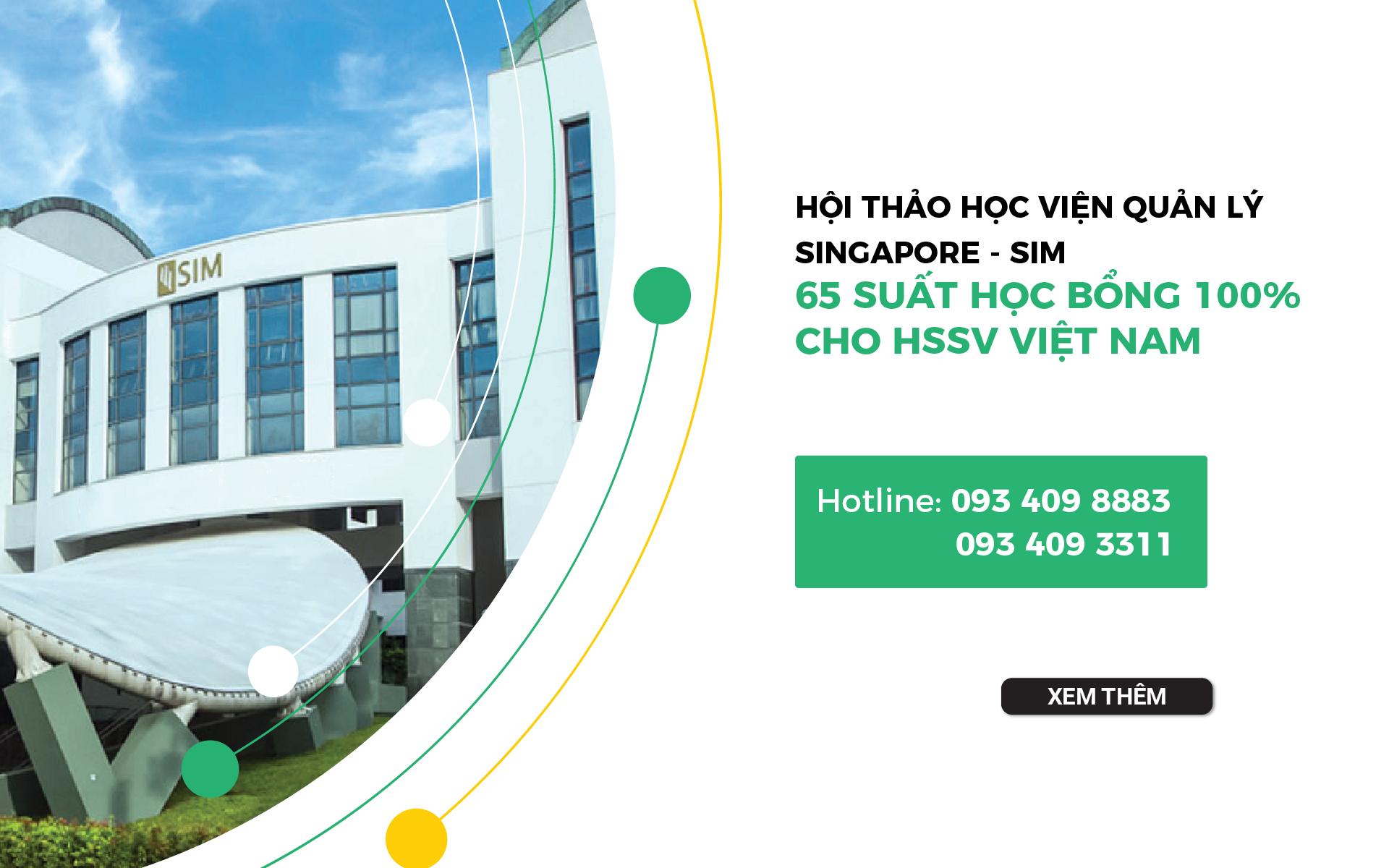 Hội thảo học viện SIM – Học bổng 100% từ học viện tốt nhất Singapore 8 năm liền
