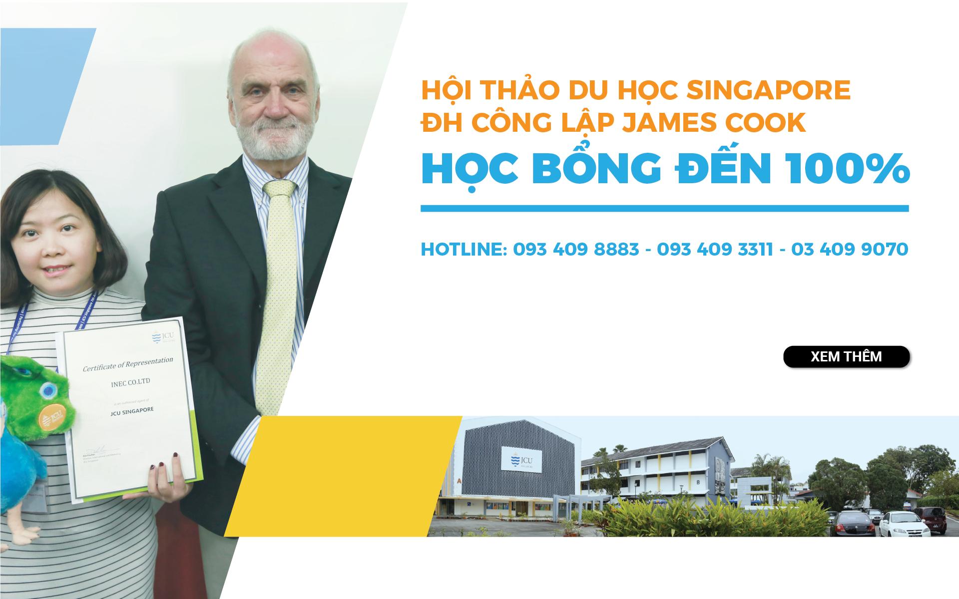 Hội thảo du học Singapore Đại học Công lập James Cook – Học bổng đến 100%