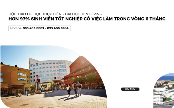 Hội thảo Đại học Jonkoping Thụy Điển - Cơ hội việc làm rộng mở trên toàn cầu