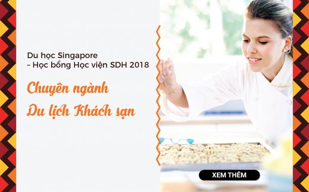 Nhận hồ sơ học bổng Học viện SDH 2018 tại Hội thảo du học Singapore