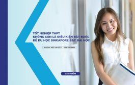 Tốt nghiệp THPT không còn là điều kiện bắt buộc để du học Singapore bậc Đại học
